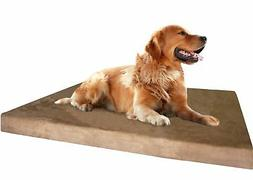 Dogbed4less Large Orthopedic Memory Foam Dog Bed with Brown
