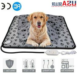 Waterproof Pet Electric Heating Mat Cushion Heated Pad Bed P