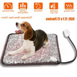 Waterproof Pet Heated Pad Bed Puppy Dog Cat Warmer Electric