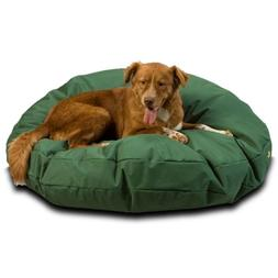 Waterproof Pet Bed Size: Large , Color: Green, Shape: Round