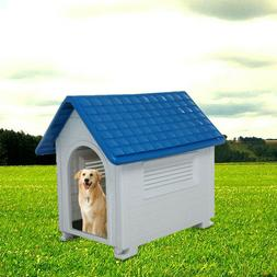 WEATHER PROOF PET PUPPY PLASTIC DOG KENNEL HOUSE INDOOR OUTD