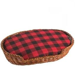 Sandicast Accessories Red Plaid Wicker Bed for Original Size