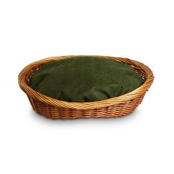 Snoozer Wicker Dog Basket and Bed, Small, Olive