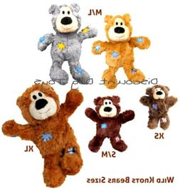 KONG Wild Knots Bear Dog Toy, Color Varies Fast Free Shippin