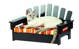 Liteaid Wood Adirondack Pet Chair with Cushion