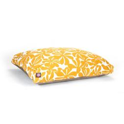 Yellow Plantation Large Rectangle Indoor Outdoor Pet Dog Bed